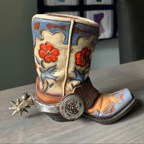 Western Southwest Boot Piggy Bank